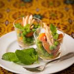 Salada com frango grelhado