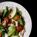 Salada e suco detox