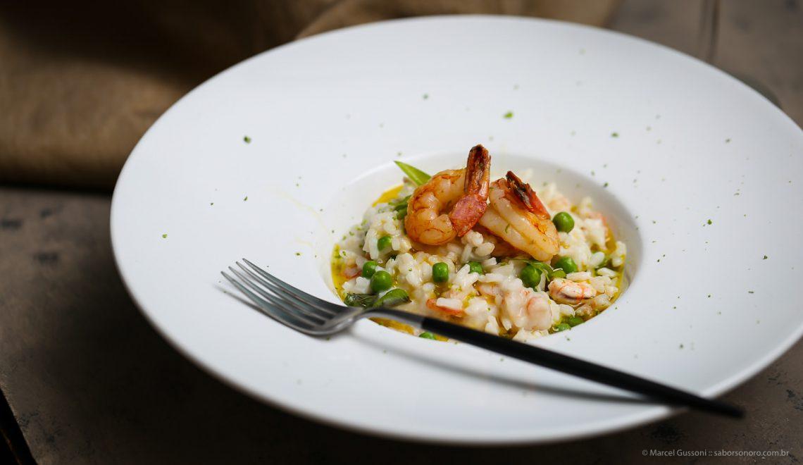 receita risoto de camarão