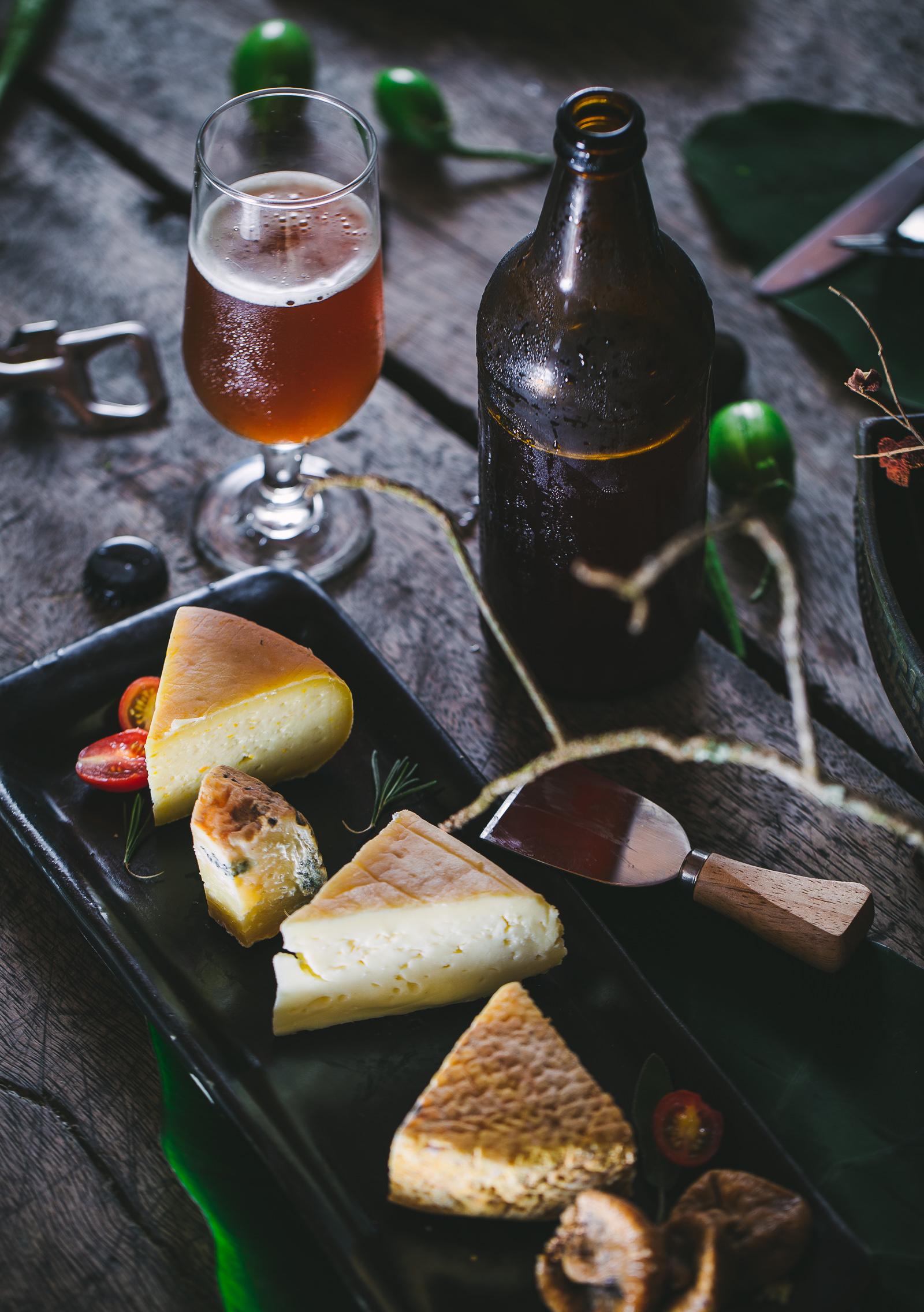 Cerveja Zuleika e queijos da Fazenda Furna