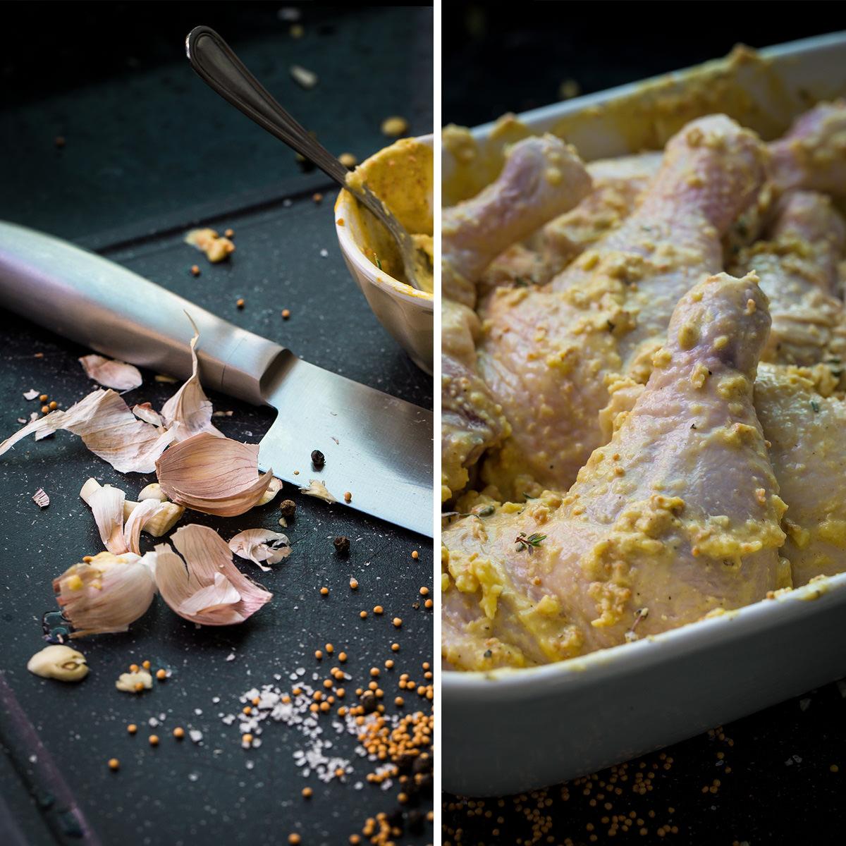 frango com mostarda - receita - ingredientes